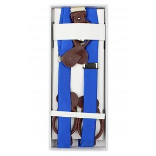Marine Blue Fabric Suspenders in Box