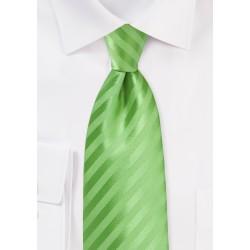 Solid Striped Tie in Midori Green