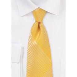 Mimosa Yellow Summer Plaid Tie