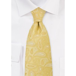 Bright Yellow Paisley TIe
