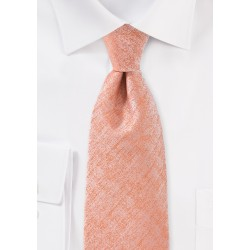 Heathered Peach Colored Tie