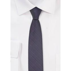 Super Skinny Tie in Grape Purple