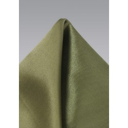 Solid Olive Green Pocket Square
