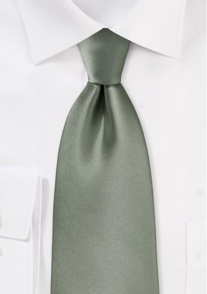 Solid color ties - Solid olive color necktie