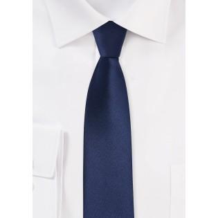 Dark Blue Skinny Tie