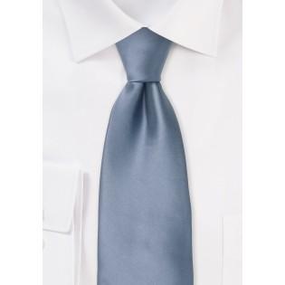 Slate Blue XL Length Tie