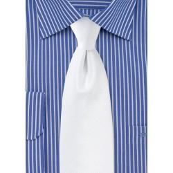Bright White Formal Necktie