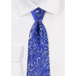 XL Paisley Tie in Morninglory Blue