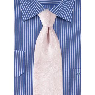 Kids Paisley Tie in Bridal Pink