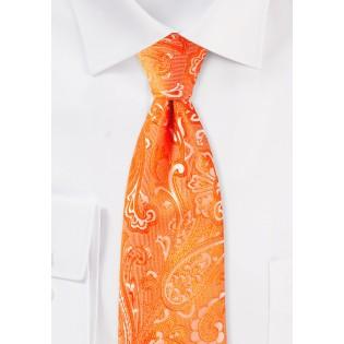 Mandarin Paisley Tie