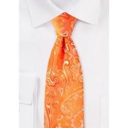 Mandarin Paisley Tie in XL