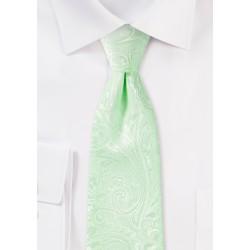 Seafoam Green Paisley Tie