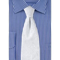 Bright White Mens Paisley Tie