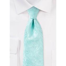 Robins Egg Blue Paisley Tie