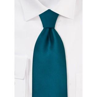 Turquoise blue tie  - Solid color necktie