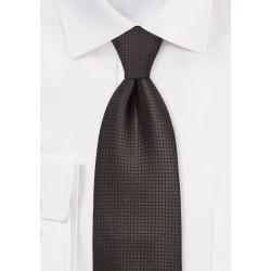 Mocha Brown Silk Tie