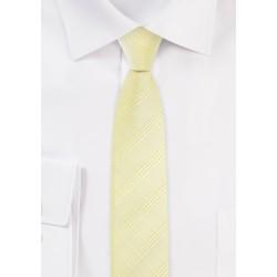 Skinny Plaid Tie in Banana Yellow