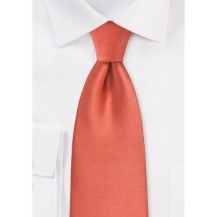 Dark Coral Red Necktie in XL