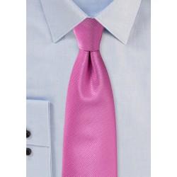 Begonia Pink Wedding Tie