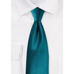 Textured Tie in Tealness