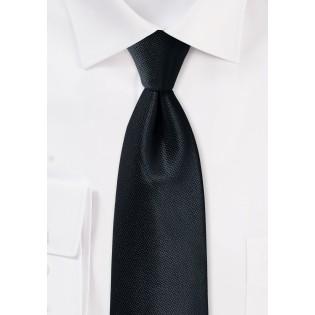 Textured Formal Black Mens Tie