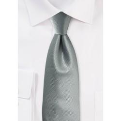 Textured Mens Tie in Formal Gray
