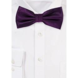 Wedding Bow Tie in Italian Plum