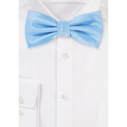 Elegant Summer Bow Tie in Capri Blue
