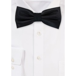 Formal Black Textured Bow Tie