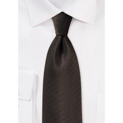 Espresso Brown Herringbone Tie
