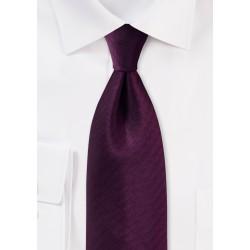 Herringbone Tie in Grape Purple