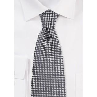 Two Toned Diamond Tie in Graphite