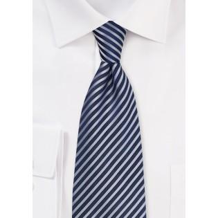 Dark Navy Tie with Textured Stripes