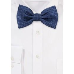 Grenadine Texture Bow Tie in Navy