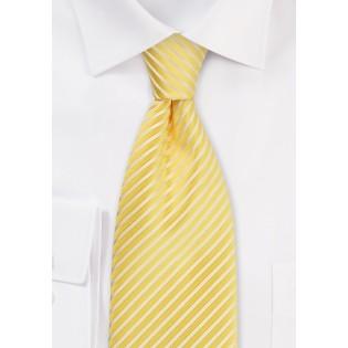 Elegant Striped Necktie in Maize-Yellow