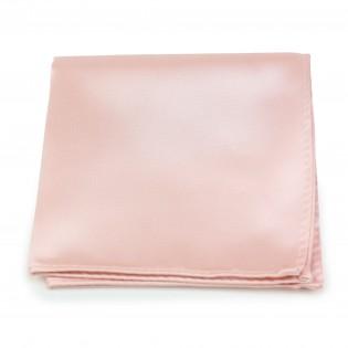 Peach Pink Pocket Square