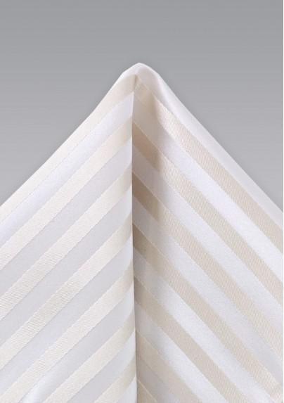 Festive Ivory Color Silk Hanky
