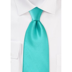 Mint Green Mens Tie in Extra Long
