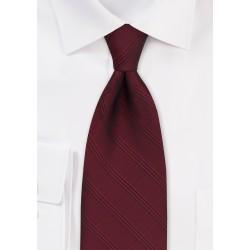 Plaid Necktie in Cordovan Red