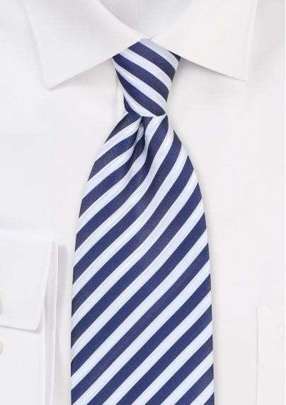Dark Indigo Blue Striped Tie