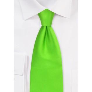 XL Silk Tie in Bright Lime Green