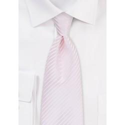 Blush Pink Tie with Elegant Stripes