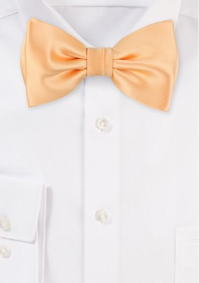 Solid Apricot-Orange Bow Tie
