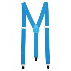 Mens Suspenders in Cyan Blue