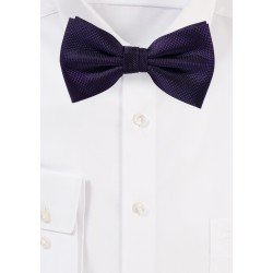 Matte Bow Tie in Eggplant