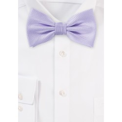 Light Lavender Matte Woven Bow Tie