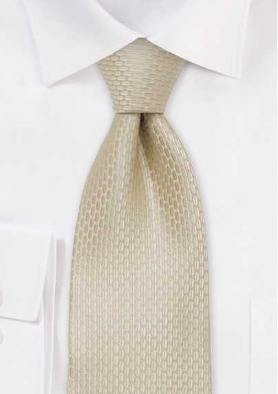 Extra long silk ties - Champagne colored XL necktie