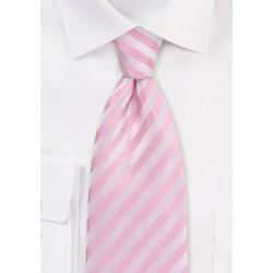 Pink Mens Ties - Pink Tie With Stripe Pattern