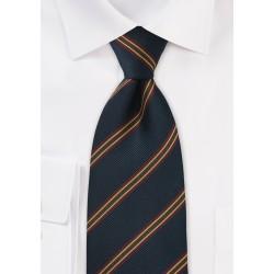 XL Length British Repp Tie in Navy