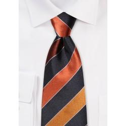Copper, Brown, Tan Striped Tie